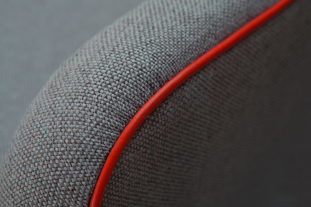 Close up of fabric and upholstery details